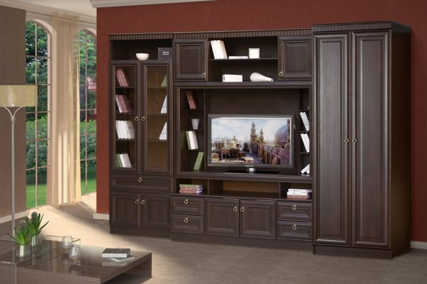 Модульная гостиная в классическом стиле Риккарди К-03 цвет Венге