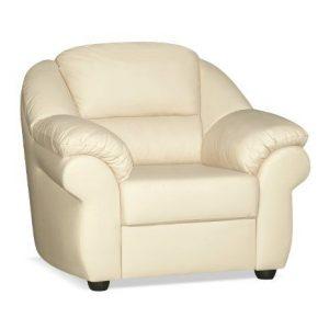 Мягкое кресло из натуральной кожи MARUSSIA Бостон цвет Светло-бежевый