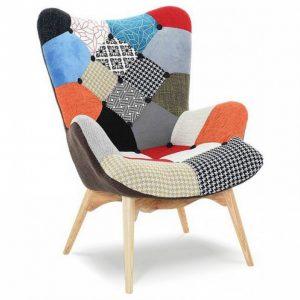 Мягкое кресло от производителя Patchwork ESF DС-917(P) Цвет лоскутный микс