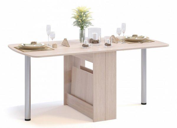 Обеденный стол от производителя Сокол СП-11.1 Цвет дуб беленый