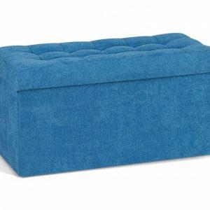 Пуф для хранения Рио большой цвет Синий
