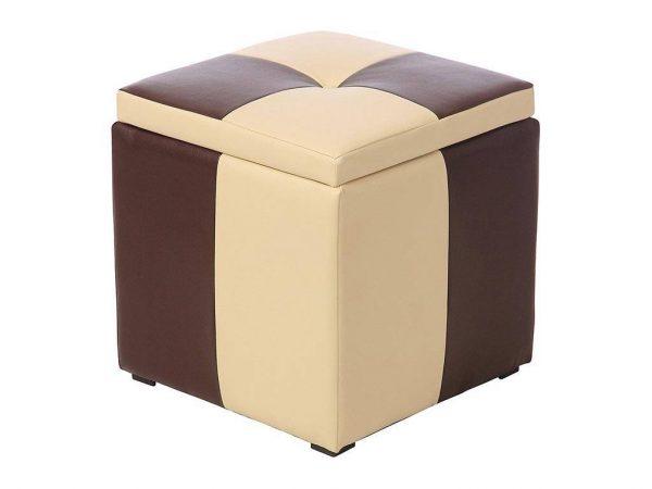 Пуф-сундук от производителя Мебельстория Рубио-2 Цвет бежевый, коричневый