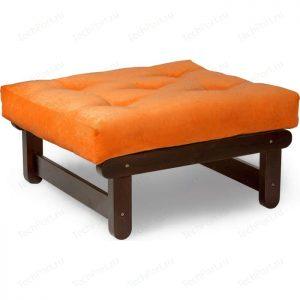 Пуфик в прихожую от производителя Anderson Сламбер Цвет оранжевый вельвет, орех