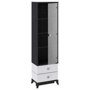 Шкаф-витрина от производителя ТриЯ Камилла ТД-249.07.25 Цвет белый,черный