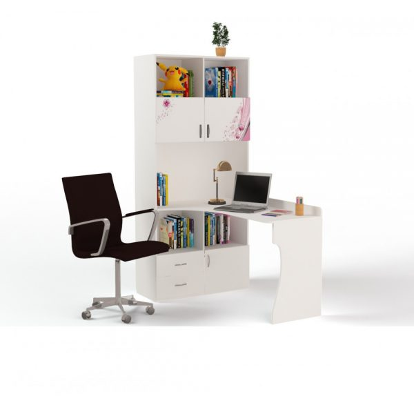 Стол компьютерный маленький от производителя ABC KING Champion Цвет белый