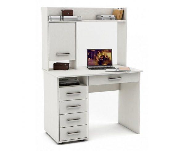 Стол компьютерный от производителя ВМФ Остин-12 Цвет белый