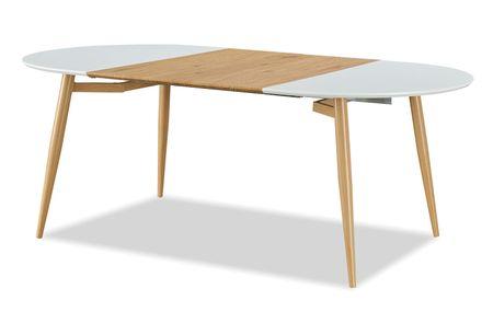 Стол раскладной от производителя Suzy 120-200 Цвет белый, дуб
