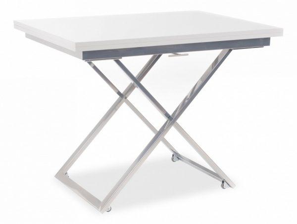 Стол-трансформер от производителя Левмар Compact GL Цвет белый глянец