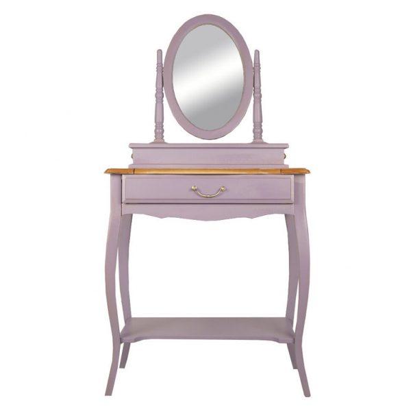 Столик туалетный с зеркалом от производителя Этажерка Leontina lavanda Цвет лавандовый