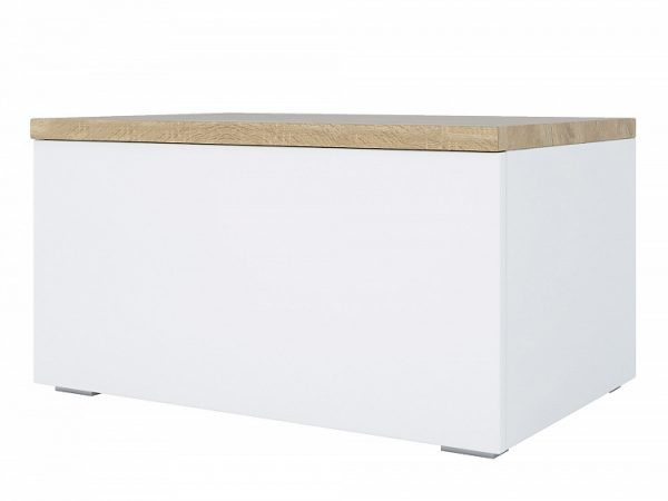 Тумба с ящиком от производителя Куба Цвет белый, дуб сонома