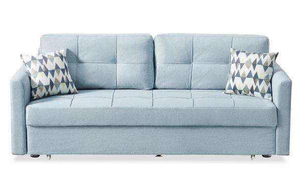 Диван-кровать от производителя Jeffrey Цвет серо-голубой
