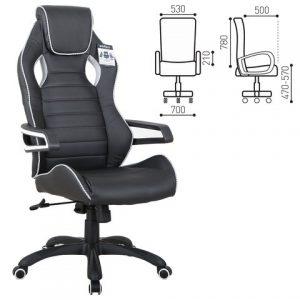 Компьютерное кресло от производителя Brabix Techno Pro GM-003 Цвет черный, серый 531814