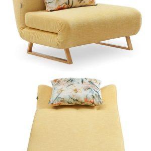 Кресло-кровать от производителя Rosy Цвет желтый/цветочный принт