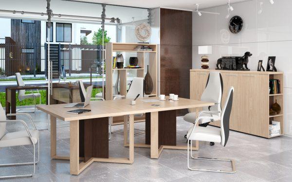 Офисный набор мебели от производителя Skyland Alto Цвет венге магия, дуб девон