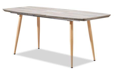 Стол раскладной от производителя Anna 140-180 Цвет дымчатый