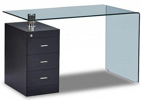 Стол письменный от производителя Waterfall Цвет черный, прозрачный