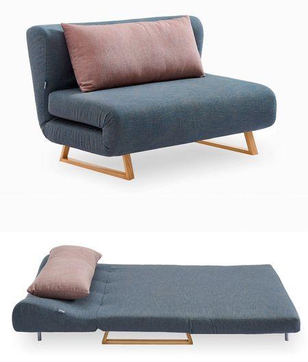 Диван-кровать 2-х местный от производителя Rosy Цвет синий/коралловый