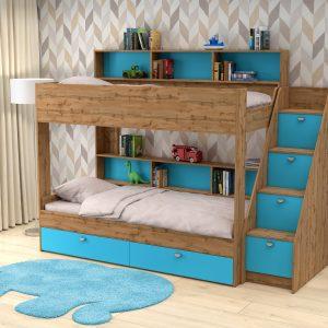 Двухъярусная кровать от производителя Golden Kids 10 (90х190) Цвет голубой