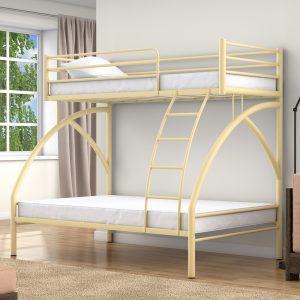 Двухъярусная кровать от производителя Клео 2 90х190/190х120 Цвет слоновая кость