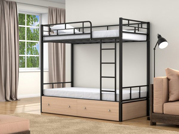 Двухъярусная кровать от производителя Валенсия 90х190/90х190 Цвет бежевый