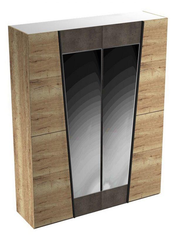 Шкаф платяной от производителя СБК Стреза Цвет дуб галифакс натуральный