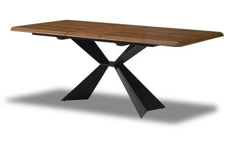 Стол раскладной 160-200 от производителя Allure Цвет орех, черный