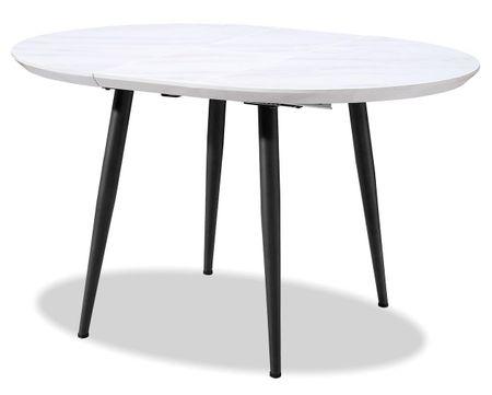 Стол раскладной от производителя Leticia 100-130 Цвет мраморный рисунок, черный
