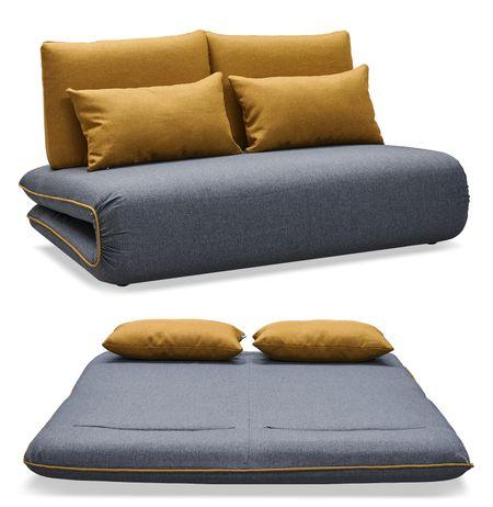 Диван-кровать от производителя Justin-2 Цвет темно-серый, желтый