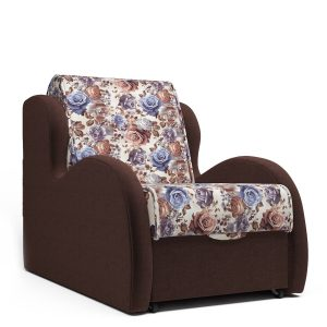 Кресло-кровать с раскладкой аккордеон от производителя Алан Цвет коричневый