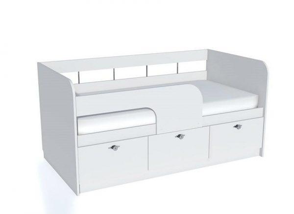 Детская кровать от производителя Сильва Прованс НМ 039.03 Цвет белый