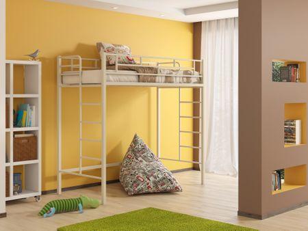 Кровать-чердак от производителя Амстердам-2 (90х190) Цвет слоновая кость