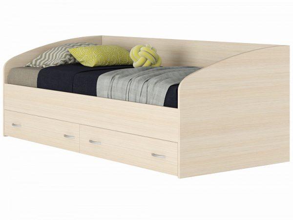 Кровать с матрасом от производителя ГОСТ Уника (90х200) Цвет бежевый