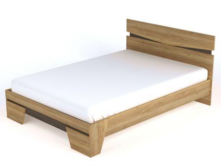 Полутороспальная кровать от производителя Стреза (140х200) Цвет дуб галифакс