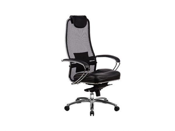 """Офисное кресло механизмом раздельного качания """"Samurai"""" цвет черный 80012"""