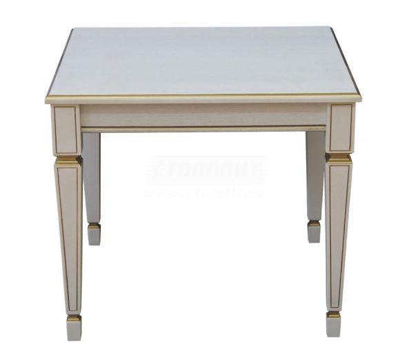 Стол журнальный от производителя Мебелик Васко В 82С Цвет белый ясень, золото