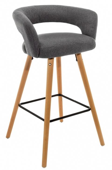 Барный стул мягкий от производителя Mars Цвет серый