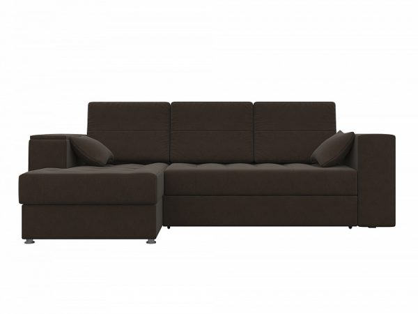 Угловой диван-кровать от производителя Атлантис Левый Цвет коричневый