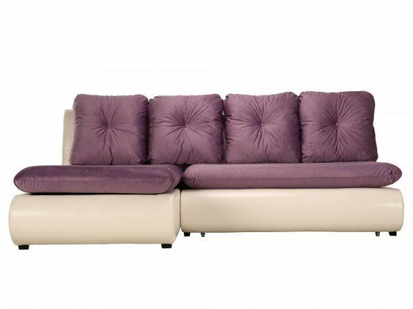 Угловой диван-ковать от производителя Кормак Мини Люкс Цвет белый, фиолетовый