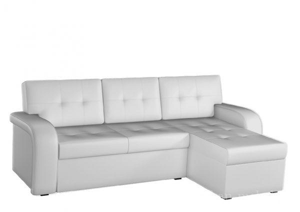 Диван-кровать угловой от производителя Мебелико Классик Цвет белый