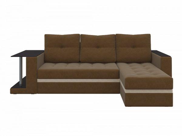 Угловой Диван от производителя Атланта М Правый Цвет коричневый