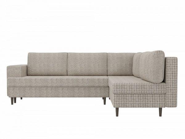 Угловой диван от производителя Сильвана Правый Цвет бежевый